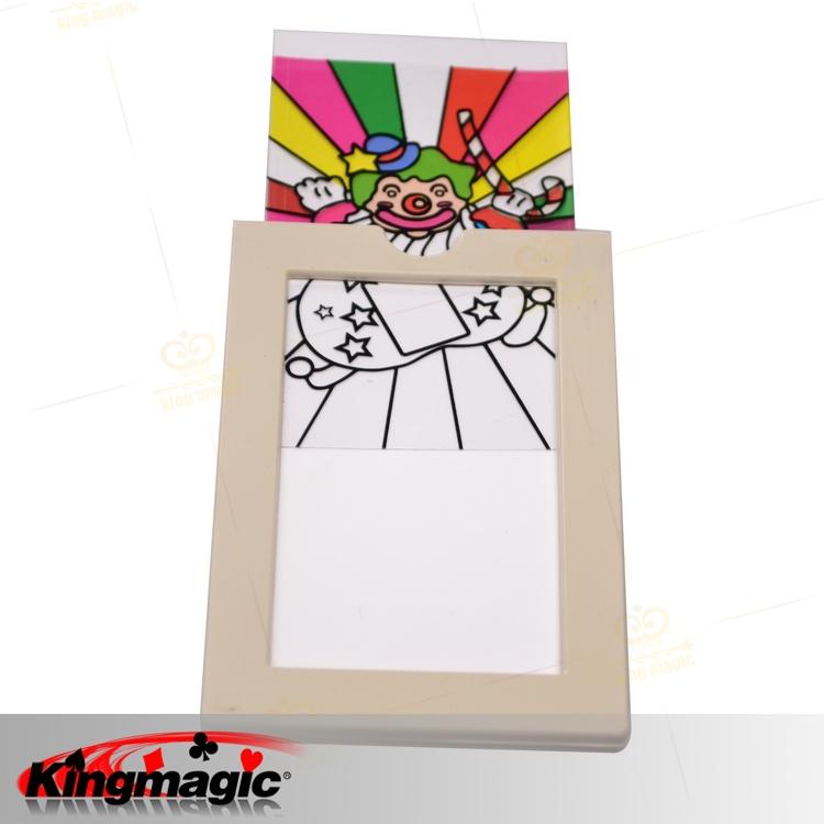 الشحن مجانا السحر الطفل المهرج المهرج بطاقة بطاقة اللون صغيرة كبيرة دعائم ماجيك ماجيك ألعاب(China (Mainland))