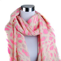 Min order is usd15 Free shipping Fashion cheap leopard printed long scarf