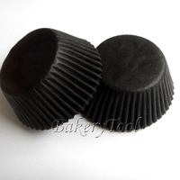 Classical single Color Black Glassine Paper Cupcake Liners, cupcake maker Baking Cups for wedding baby show