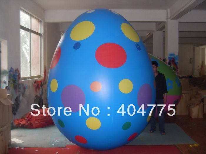 3mH inflatable PVC easter eggs,eastern decoration,easter decoration with valve+free shipping(China (Mainland))