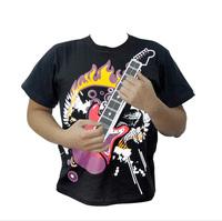 wholesales 2013 hot sales t-shirt  Playable Electronic Rock Guitar T-Shirts/music t-shirt free shipping