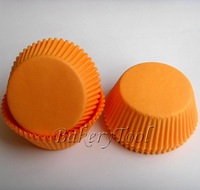TOP1 single Orange Color Cupcake Liners, Baking Cups, party supply Muffin Cases Aliexpress for wedding baby shower