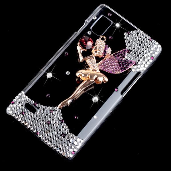 LG lg optimus select phone cases : ... -Angel-Wings-Girl-Diamond-Hard-Case-Cover-For-LG-Optimus-L9-P768.jpg