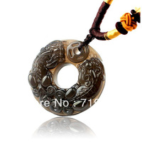 Men's and women's kind of medallion natural ice obsidian, the mythical wild animal pendant crystal necklace valentine's day gift