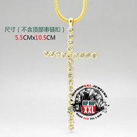 Jesus cross jesus cross long hiphop bling hiphop necklace pendant 5.5 10.5cm