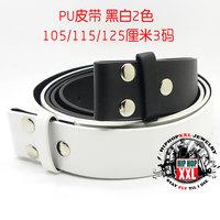 Plain strap black-and-white 2 hiphop plain hiphop belt strap 4cm