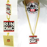 Hiphop classic big run dmc hip hop bling pendant hiphop necklace 6.5 6.5cm