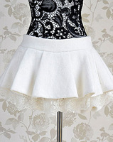 2013 woolen shorts female white paillette lace decoration puff skirt casual pants bloomers