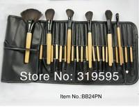2013 hot 24 pcs pro Goat hair makeup brushes,makeup tools freeshipping