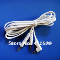 10pcs/lot Electrode Lead Wires TENS EMS MACHINE Standard Connection 3.5mm REUSABLE 2mm Plug in LONG-LIFE For Massage Machine
