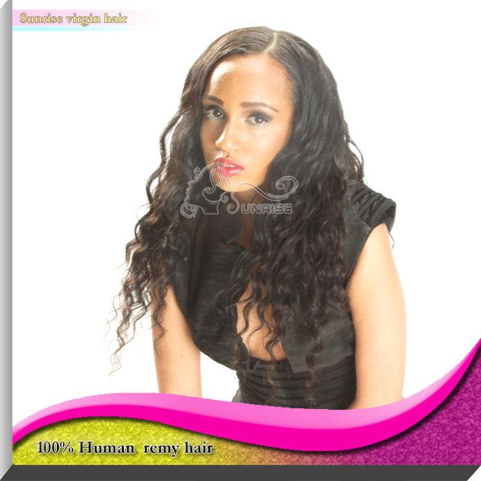 """12-24"""" la longitud del pelo, # 1, #1b, # 2, #4 color de pelo en la acción más barato 100% remy indio del pelo humano sin cola peluca delantera del cordón negro para las mujeres"""
