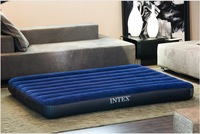 Wholesale 3pcs INTEX 68759 dark blue flocking Double increase air mattress inflatable wavy Free shipping