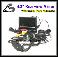 4.3 Inch TFT LCD Mini Car Dashboard Rear View Monitor with 2.4G wireless rear view camera