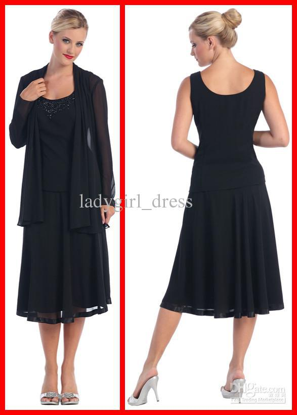 Mother Of The Bride Dresses Tea Length With Jacket Uk 71