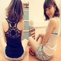 2013 women's slim tube top small vest thread cotton chiffon lace spaghetti strap basic vest female