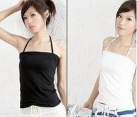2013 spring women's lycra cotton small halter-neck vest tube top spaghetti strap vest female basic vest