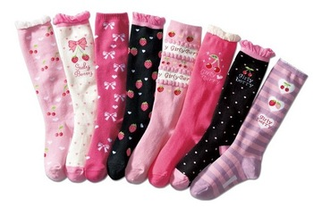 cute niseen girls stockings/fashion girls socks mixed lot wholesale free shipping
