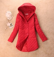 2012 cotton-padded jacket cotton-padded jacket winter thick outerwear medium-long wadded jacket female hooded Women