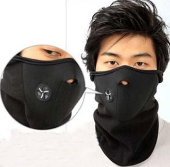 Free shipping 1pcs Bike Motorcycle Ski Snow Snowboard Sport Neck Winter Warmer Face Mask New Black000186