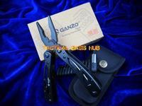 Original G202B GANZO Multi Tool plier 22in1 hand free hand tool,440C,58HRC+Free shipping(SKU12010126)