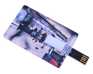 2GB Custom card USB Flash Drive Print your company logo Fedex Free shipping(China (Mainland))