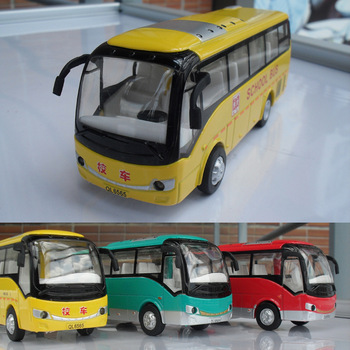 Elementary student school bus big bus model artificial car model alloy car models WARRIOR car