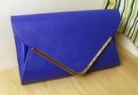 Navy blue envelope bag big day clutch white fashion vintage one shoulder chain clutch bag female bags