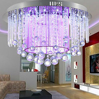 Free shipping 12-Light Crystal Semi Flush Mount