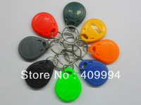 300pcs/Lot Rfid Tag Keyfob 125Khz Smart Card Nfc tags ( red, yellow, green, black, grey, orange, blue ) + Free Shipping