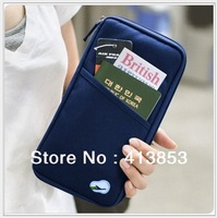 Free shipping Fashion New Travel Passport Credit ID Card Cash Holder Organizer Wallet Purse Case Bag Best Gift wholesale C0440