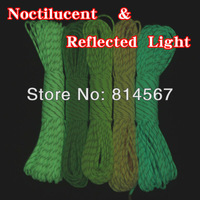 New  Luminous&Reflect Light reflective Paracord 550 Parachute Cord Lanyard Rope Mil Spec  9 Strand 100 FT FREE SHIPPING