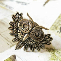 Wholesale Cool Rings For Men Vintage Owl Ring Index Finger Ring Free Shipping