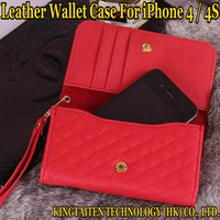 NEW Fashion Luxury Colorful leather A handbag wallet case For Apple iPhone 4 4s Mobile phone MINI FUN protect Free shipping