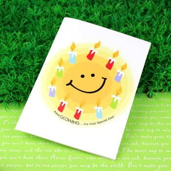Free shipping Birthday recording greeting card small card
