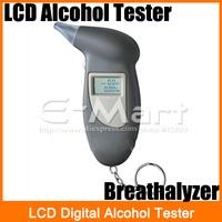 Clearance!!! LCD Digital Alcohol Tester Key Chain Breathalyzer Breath Analyze  Free Shipping