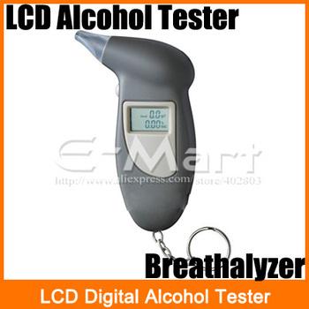 LCD Digital Alcohol Tester Key Chain Breathalyzer Breath Analyze  Free Shipping
