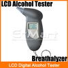 LCD Digital Alcohol Tester Key Chain Breathalyzer Breath Analyze  Free Shipping(Hong Kong)