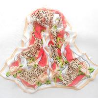 2013 Chain flower scarf autumn and winter female chiffon print long silk scarf all-match Free Shipping