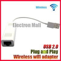 PLUG & PLAY!! White Mini Pocket Wifi Wireless Wlan Internet Network Router Adapter, USB 2.0, FREE SHIPPING!!