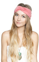 Twist knot headband stretch lycra turban ealstic hair band headbands two bright color style