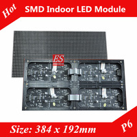 NEW! 2013 P6 Big Video LED Display Module Indoor SMD3528 Full Color 4in1 Module Size 384mm x 192mm with Bracket MBI5020 IC