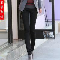 Mm plus size female legging autumn and winter elastic waist elastic pants casual trousers
