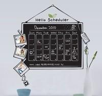 Free Shipping BlackBoard Kids Removable Vinyl Sticker Scheduler Chalkboard Sticker Decoration Fashion Home Wall Stickers S0009