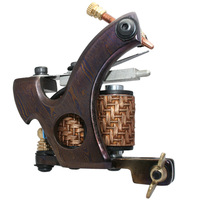 free shipping   new hot  Professional Damascus handmade tattoo machine for shader 10 coils DA-307
