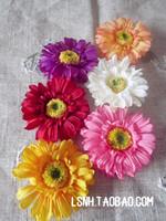 5Color Flower with Hair Clips Girls Head Flower Children Kid's Hair Accessories rosette silk fabric flower pin hair bows