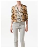 2013  new fashion (CBRL)  Europe women fashion Sexy tiger stripe printed blouse  long sleeve casual slim elegant shirt   #W078