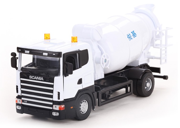 Alloy car model engineering car cement tanker cement mixer truck 6621 toys(China (Mainland))