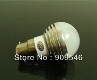 10pcs/lot 6W B22/E27 Cool White/Warm white High Power 3*2W LED bubble Ball Globe Light Lamp Bulb Screw base AC85V ~ 265V
