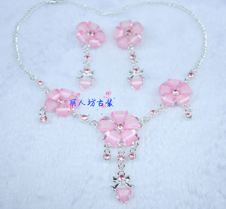 Costume hair accessory classical hair accessory costume necklace classical set eyebrows hanfu accessories necklace earrings(China (Mainland))