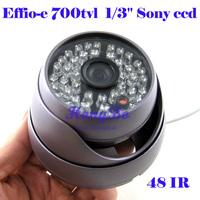Wholesale Free shipping Weatherproof Effio-e 1/3 Sony 700 tvl CCD cctv Camera